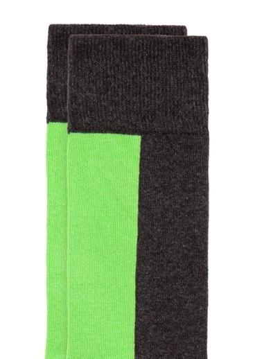 Mavi Erkek  Baskılı Soket Çorap 092339-30710 Gri